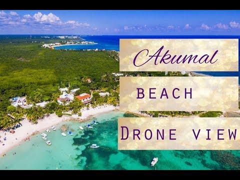 Akumal Riviera Maya. Akumal bay drone video footage DJI Phantom Standard 3.