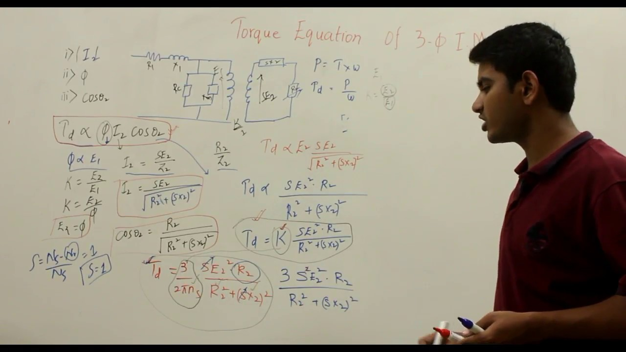 Torque Equation Of 3 Phase Induction Motor