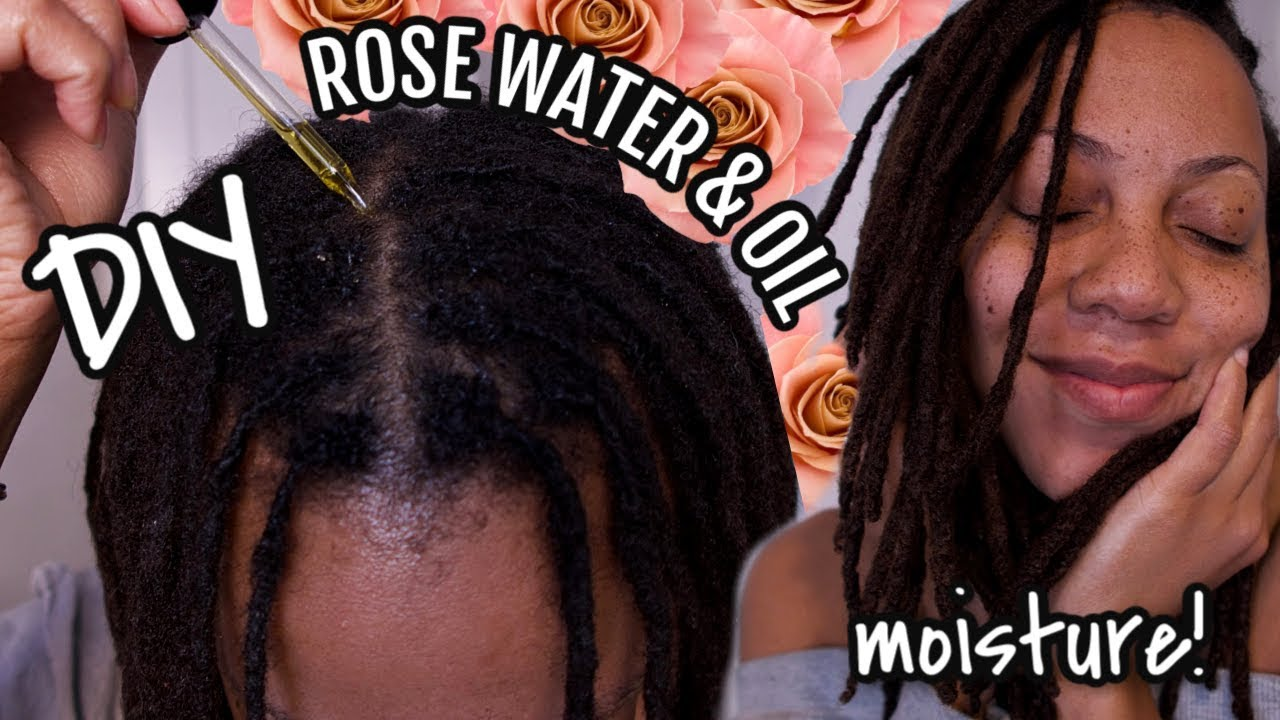 I Made My Own Rose Water Rose Hip Oil For Dry Locs Hair Growth Benefits Youtube