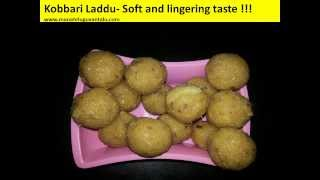 Kobbari Laddu (coconut) Made With Jaggery Sweet