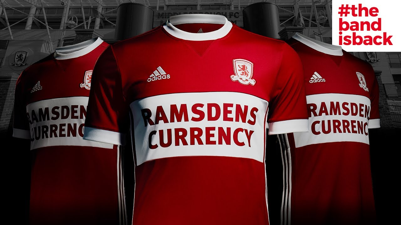 a5f642659 Boro s 2017 18 home kit launch at the Riverside. Middlesbrough FC