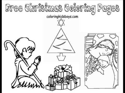 ColoringBuddyMike: Christmas Coloring Pages