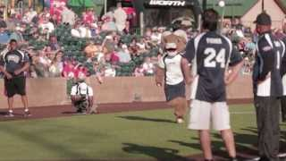 Rams Mascot Rampage does a backflip for Ozzie Smith