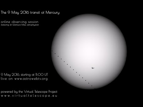 9 May 2016 transit of Mercury : online observing session