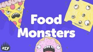 How to Draw Food Monsters YouTube