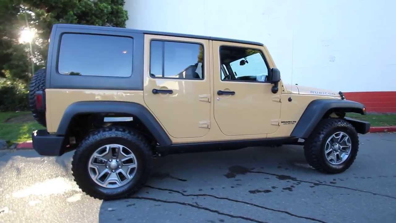 2013 jeep wrangler unlimited rubicon dl619397 dune. Black Bedroom Furniture Sets. Home Design Ideas