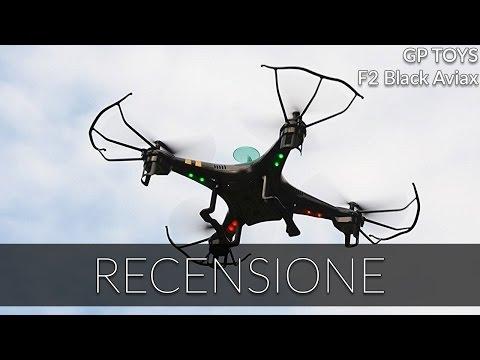 GP Toys F2 Black Aviax - RECENSIONE e DEMO drone con videocamera HD