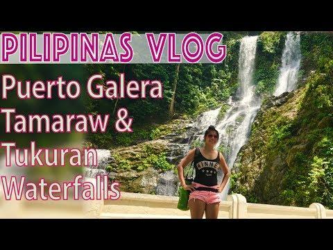 Puerto Galera Waterfalls Tamaraw and Tukuran falls Mindoro Philippines.