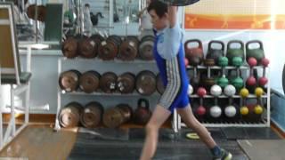 Шумихин Артур, 10 л  с вес 28 кг Толчок 27 кг Есть личный рекорд!
