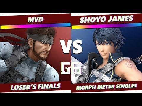Glitch 6 SSBU - MVD (Snake) VS MNT | Shoyo James (Chrom) - Smash Ultimate Morph Meter LF