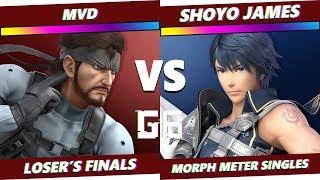 Glitch 6 SSBU - MVD (Snake) VS MNT   Shoyo James (Chrom) - Smash Ultimate Morph Meter LF