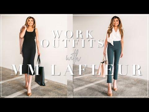 WORK OUTFIT IDEAS ft. MM LaFleur   Work Wear Basics & Outfit Ideas MM LaFleur review   Miss Louie