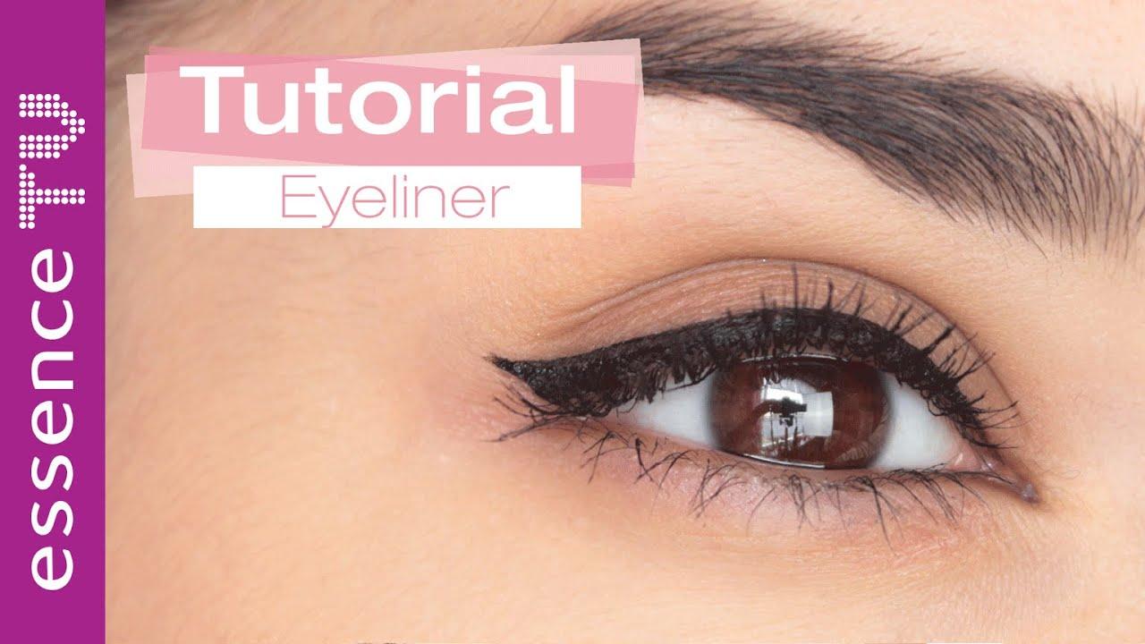 perfekter lidstrich eyeliner ganz einfach in 5 schritten anf nger l essencetv youtube. Black Bedroom Furniture Sets. Home Design Ideas