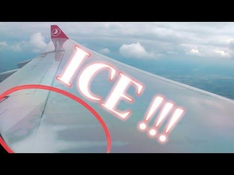 Ice on the Wing! Turkish A330 Crosswind Landing in Düsseldorf - THY A330 Kanatlarda Buzlanma