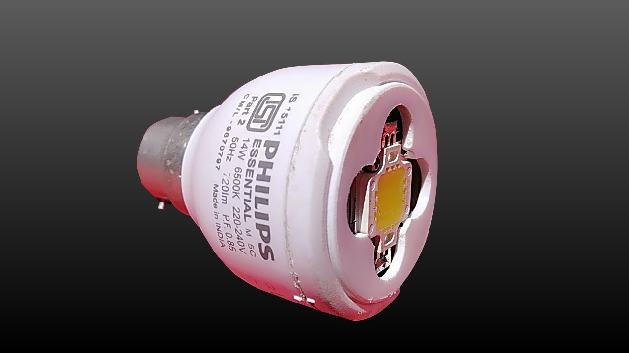small resolution of convert old cfl into led bulb make 5 watt led bulb upgraded