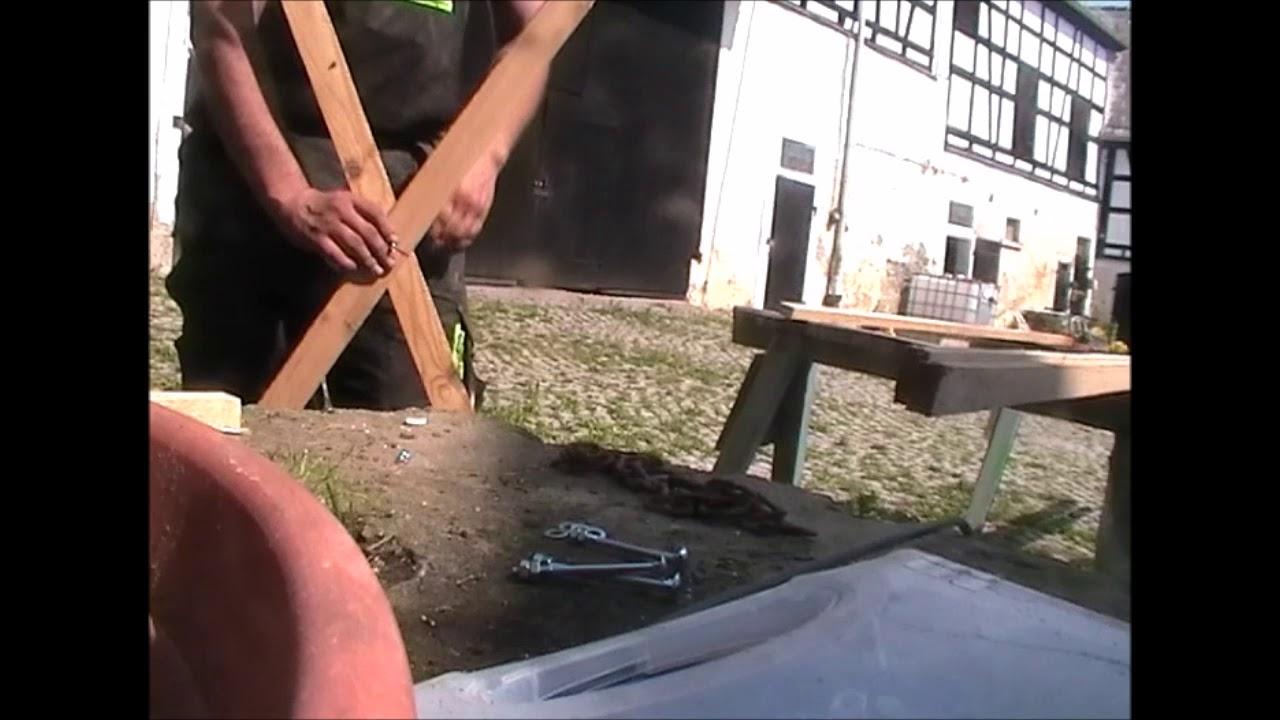 sägebock selber bauen, uncut - youtube