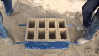 ручний спосіб 4 бетонних блоків. простота в експлуатації (14x19x39cm)