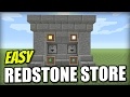 Minecraft PS4 - REDSTONE SHOP [ 1 WIDE ][ EASY ] Tutorial - PE / Xbox / PS3 / Wii U