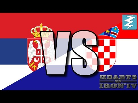 Serbia Vs Croatia Ep6 - Hearts of Iron 4 (HOI4)