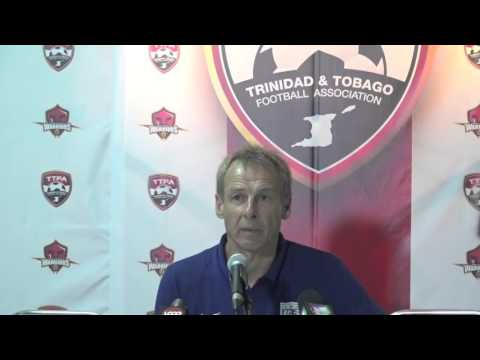 Klinsmann's Post Match comments after 0-0 draw betwee T&T and USA in Port of Spain