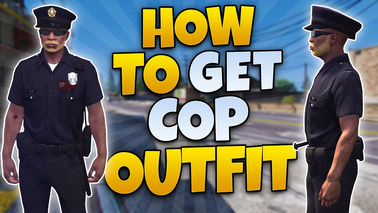 GTA 5 ONLINE - HOW TO GET THE COP OUTFIT ONLINE ( GTA 5 POLICE UNIFORM GLITCH)