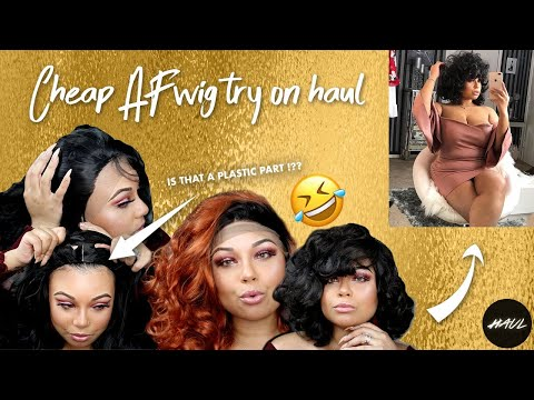 HILARIOUS CHEAP AF WIG TRY ON HAUL FROM CHINA !!!+ CHIT CHAT