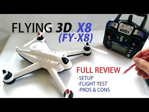 Flying 3D X8 (FY-X8) GPS QuadCopter Drone Full Review - Setup, Flight Test, Pros & Cons