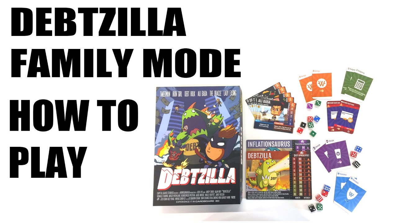 How to Play: Debtzila Family Mode