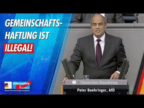 Gemeinschaftshaftung ist illegal! - Peter Boehringer - AfD-Fraktion im Bundestag