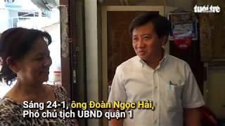 PCT Quận 1 Đoàn Ngọc Hải khẩn cấp vận động người dân di dời khỏi chung cư bị lún