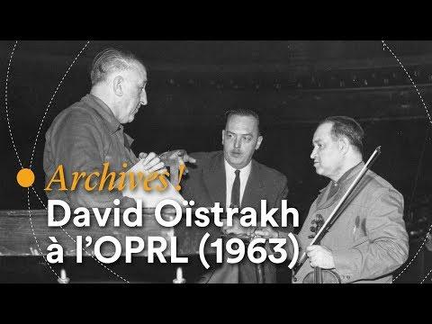 Prokofiev, Concerto pour violon n° 1 (David Oïstrakh, OPRL, Fernand Quinet, live 1963)