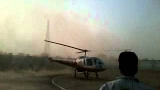 helicopter landing in gulab chand dubey compound