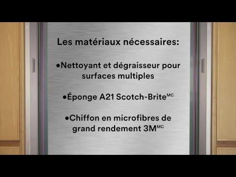 Guide de preparation des surfaces: Nettoyant et protecteur pour acier inoxydable 3M