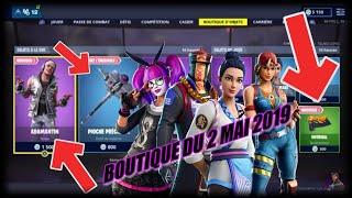 FORTNITE : Boutique du 2 mai, NOUVEAU SKIN ADAMANTIN, NOUVEAU REVETEMENT INFERNAL, item shop