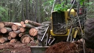 John Deere 440-B Skidder and Modified Stihl 440 w/32