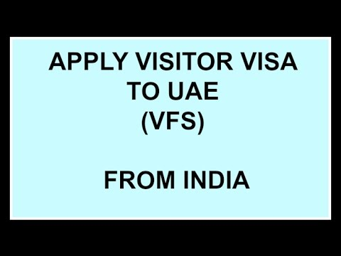 Apply Visitor Visa to UAE (VFS) Complete Procedure - YouTube