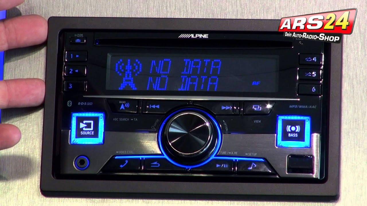 alpine cde w296bt autoradio 2 din review ars24 com youtube. Black Bedroom Furniture Sets. Home Design Ideas