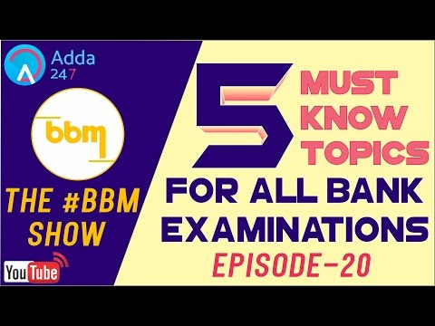 SBI PO MAINS | Banking Awareness | 5 MUST KNOW TOPICS | BBM - 20 | Online Coaching for IBPS Bank PO