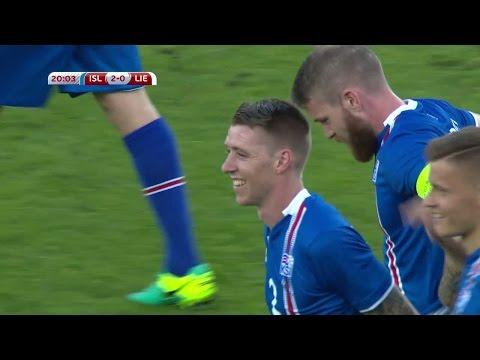 Saevarsson dundrar in kanonskott för Island - TV4 Sport