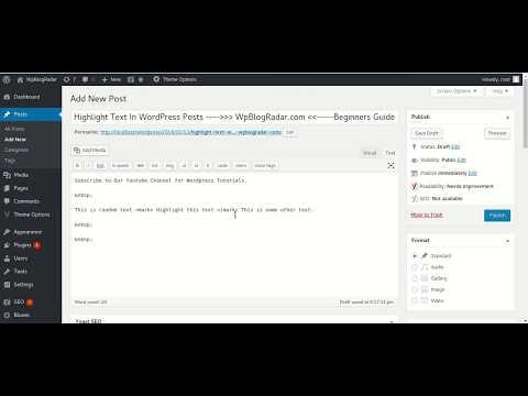 Highlight Text In Wordpress Posts