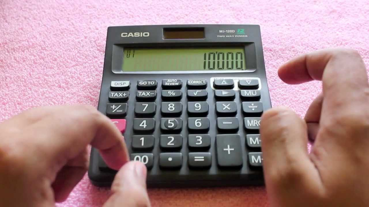 casio mj 120d calculator review youtube rh youtube com casio n78 user manual Casio Calculator Instruction Manual