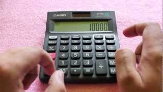 Casio MJ-120D Calculator review