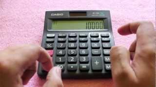 Casio MJ-120D Calculator review