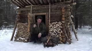 в лесную избушку на день быстрое приготовление чая и заготовка дров