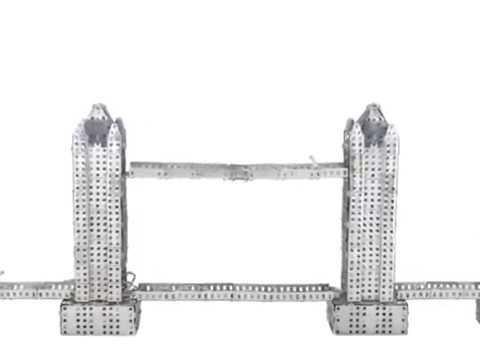 Tronico Metallbaukasten - DIY Metal Construction Kit - London Tower Bridge - 1:218 - Profi Series