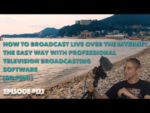 How to Broadcast Live Over the Internet the Easy Way with Professional TV Broadcasting Software