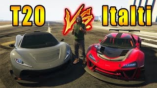 PROGEN T20 VS Custom ITALI GTB | Which is FASTER in GTA V Online?  (New DLC Vehicle Comparison)