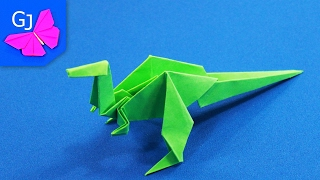 Оригами Тиранозавр из бумаги