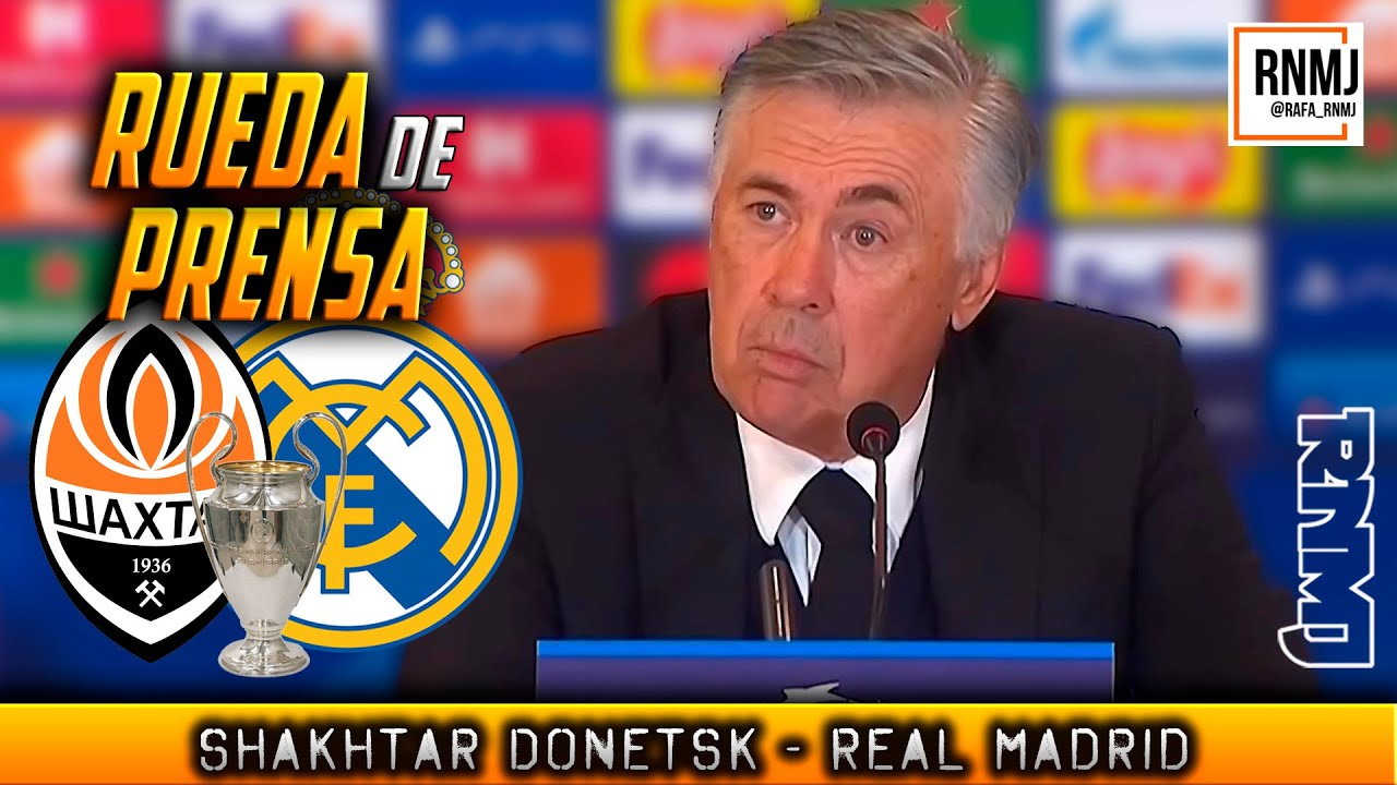 Rueda de prensa de ANCELOTTI post Shakhtar Donetsk 0-5 Real Madrid (19/10/2021)