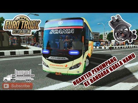 Euro Truck Simulator 2 | Bus Pahala Kencana, Buka Lajur Kiri Di Kuala Namu